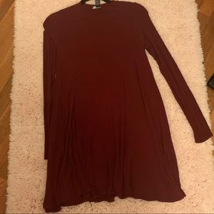 forever 21 maroon shift dress